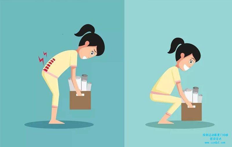 搬重物时不慎扭伤腰部致腰部疼痛